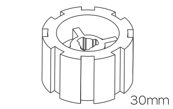 Crowns & Drives for 30mm Motors