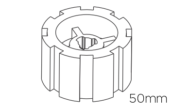 Crowns & Drives for 50mm Motors