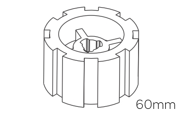 Crowns & Drives for 60mm Motors